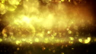 Abstract particles (gold) - Loop