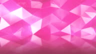 Abstract polygonal background pink color animation