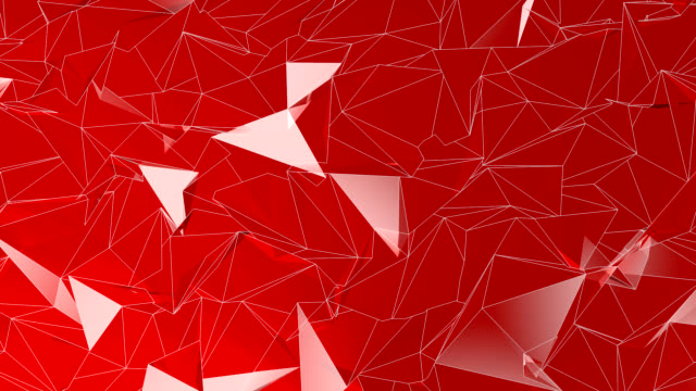 Abstract polygonal background red color animation