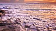 Abstrakte Meer Sonnenuntergang