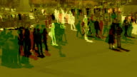 Abstract shot of Pedestrians in slow motion. HD, NTSC, PAL