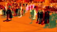 Abstract shot of Pedestrians in slow motion. HD
