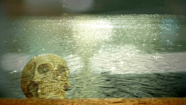 abstract skull in the water
