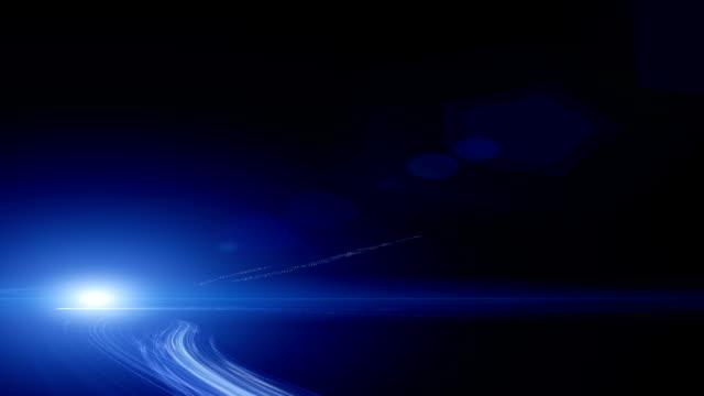 Abstrakte Geschwindigkeit Bewegung im Autobahn-tunnel