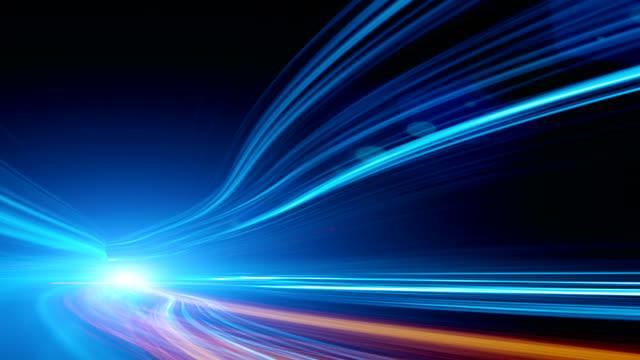 Abstracte snelheid beweging in snelweg tunnel