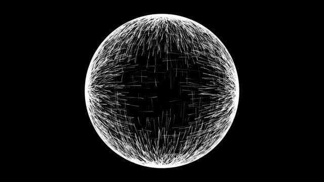 Abstract spherical background