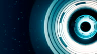 Abstract spinning ring background