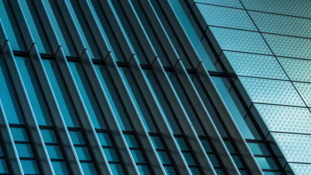 Abstract Time Lapse of Modern Office Building