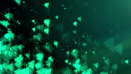 Abstract Triangles Background (Green, Dark) - Loop