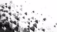 Abstract Triangles Background (Black & White) - Loop