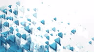 Abstract Triangles Background (Blue, Bright) - Loop