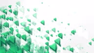 Abstract Triangles Background (Green, Bright) - Loop