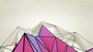 Abstract Triangles Background Loops - 2 Variations  Purple Orange (HD)