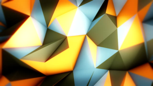 Abstract triangles loopable background footage