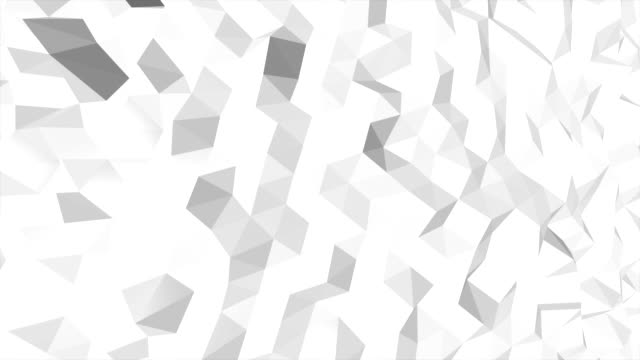 Abstract white and black geometric triangle Polygon background in endless loop, 4K(UHD)