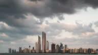 Abu Dhabi skyline at dusk
