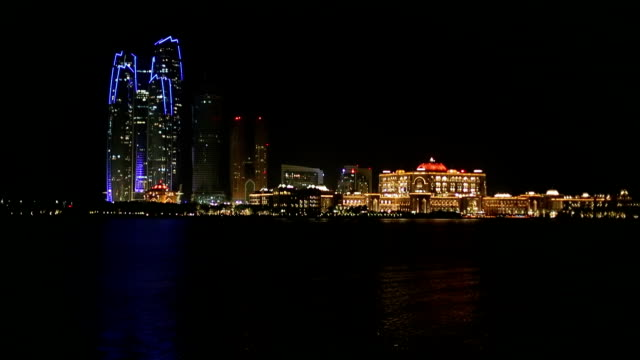 Abu Dhabi skyline at night