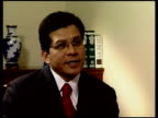 London Alberto Gonzales interview SOT I think it did harm the image of the United States and gave the perception that we don't respect basic human...
