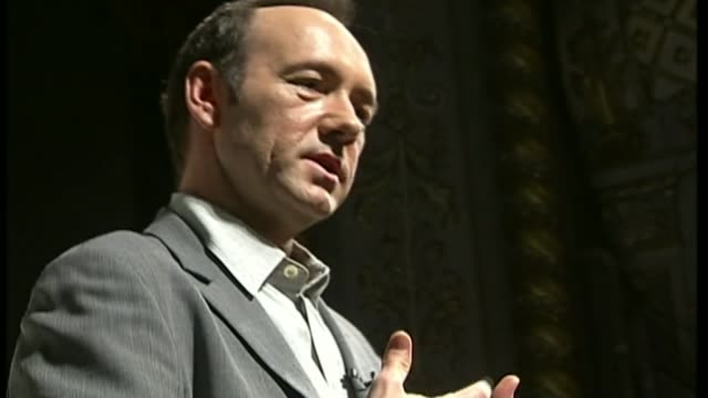 Kevin Spacey accused by 20 people of 'inappropriate behaviour' during time at Old Vic TX Kevin Spacey on stage at launch of Old Vic directorship