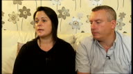 Chloe Johnson drowning accident Witness describes scene ENGLAND London Forest Hill INT Sarah Thompson and Tony Johnson interview SOT