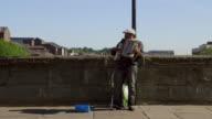 Accordion Playing Street Performer Durham England