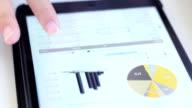 Konto-audit Tippen auf digtal Tisch, Flipchart