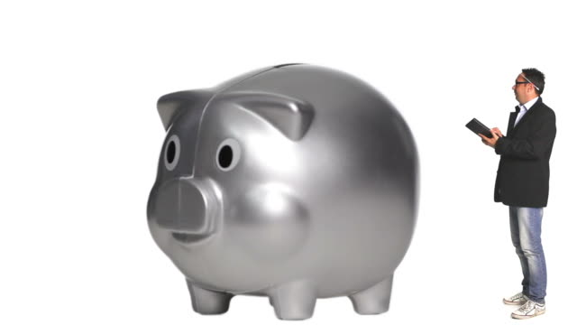 Accountant and Piggy bank
