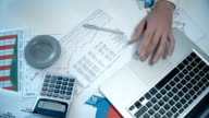 Accountant Checking Financial Report