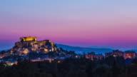 Acropolis at dusk, Athens, Greece