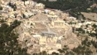 WS AERIAL ZI Acropolis focusing on parthenon house of goddess Athena/ Acropolis, Athens, Greece