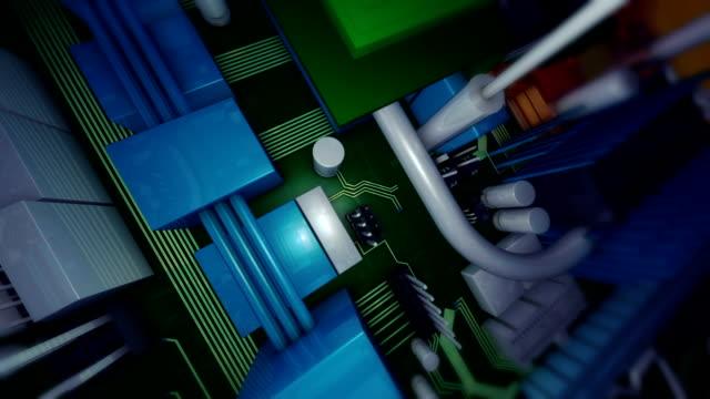Across circuit looking down
