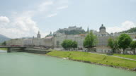 WS ZI across Salzach river to old town and Hohensalzburg castle