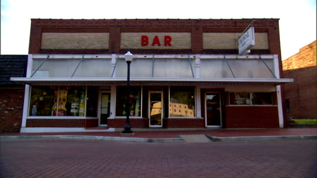 Colonial Bar w/ letterings 'Bar' on top of bar front reflective windows IN French Lick Indiana