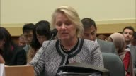 Acting Assistant Secretary for East Asian and Pacific Affairs Susan Thornton with the State Department reads her opening testimony at a hearing of...