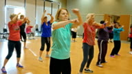 Active senior women have fun in dance class