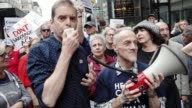Activist and healthcare advocates held a rally at the 5th Avenue Trump Tower titled 'Our Lives are Still on the Line Celebration Recommitment Rally'...
