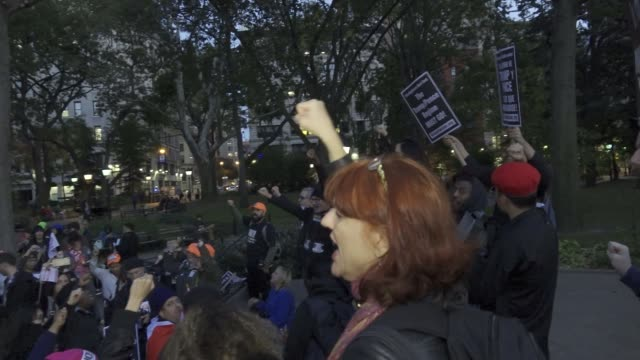 Activist from RefuseFacismorg held a rally titled 'This Nightmare Must End the Trump/Pence Regime Must Go' The group claims that starting on November...