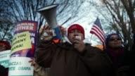 Activists chant slogans during the rally Washington DC November 21 2014