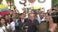 Activists took part in separate protests supporting and opposing the Venezuela government ahead of the Americas Summit