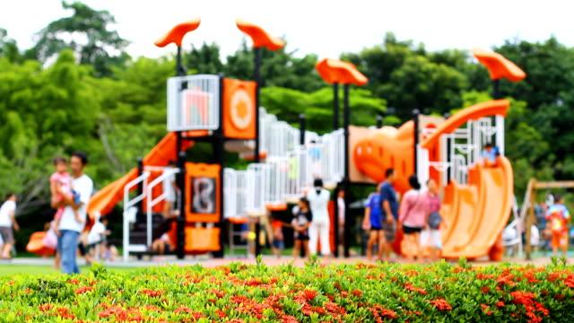 Activities at playground.(Soft focus)