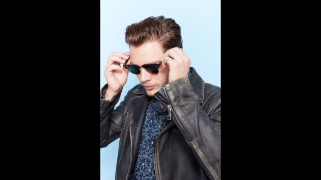 Actor Dominic Sherwood of Freeform's 'Shadowhunters' poses for a portrait gif during ComicCon 2017 at Hard Rock Hotel San Diego on July 20 2017 in...