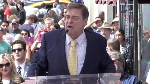 Actor John Goodman paid tribute to the women in his life as he received a star on the Hollywood Walk of Fame The 64yearold was joined by Oscar...