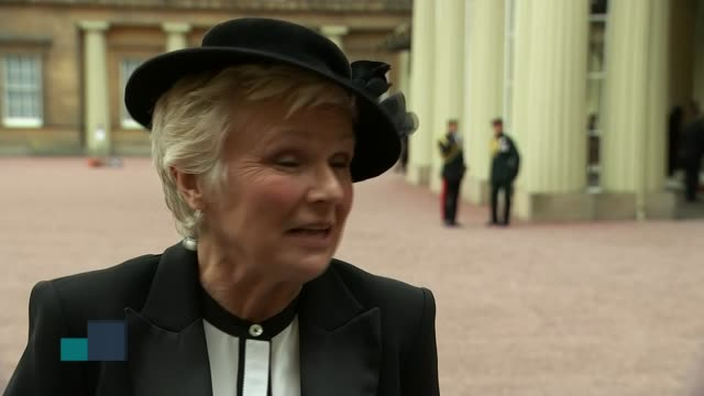 Actor Julie Walters is made a Dame by the Queen ENGLAND London Buckingham Palace EXT Dame Julie Walters interview SOT