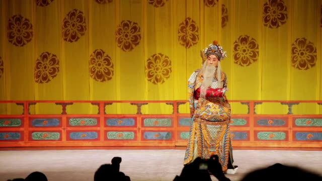 MS Actor performing Beijing opera in traditional theatre AUDIO / xi'an, shaanxi, china