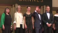 Actors Jeremie Renier and Marine Vacth joined director François Ozon on the red carpet of the Cannes Film Festival on Friday as they presented Amant...
