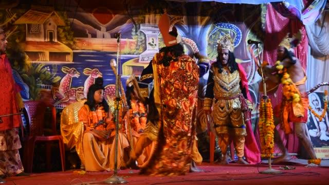 Actors Perform In Ramlila During Hindu Festival