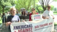 Actress Daryl Hannah was among the protesters gathered in front of the White House on Thursday to call on the government to ban fracking on federal...