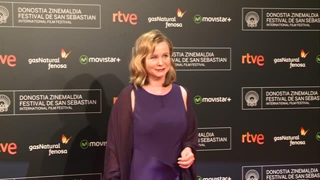 Actress Emily Watson arrives at the Donostia Award Gala during the 63rd San Sebastián International Film Festival at the Kursaal Palace