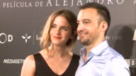 Actress Emma Watson and director Alejandro Amenabar attend 'Regresion' photocall in Madrid