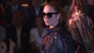 Actress Lindsay Lohan is seen during MercedesBenz Fashion Week Madrid Spring/Summer 2018 at Ifema